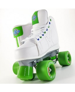 Kryptonics Roller Quad Skates - DownTown - White / Green