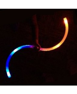 Juggle-Light LED Fibre Optic 'S' Staff' - 'Multi-Light'