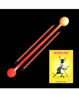 Juggle-Light LED Devilstick + Devilstick Booklet + Juggle Dream Neo Handsticks