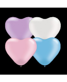 "Qualatex 6"" Heart Balloons - Pearl Heart  Assortment"