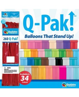 Qualatex Q-Pak - 260Q Balloons - Single Colour Selection - 50 count