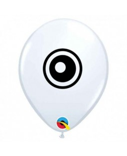 "Qualatex 5"" Round White Eyeball Balloon"