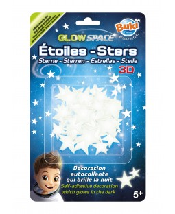 BUKI 3D Glow In the Dark Stars Sticker Set