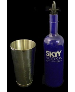 Skyy Vodka Flair Bottle + Shaker Tin