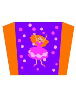 Wolkensturmer Single Line Sled Kite - Princess Kathy Graphic
