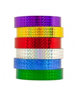 6 x Top Flight Holographic Tape - 19mm - 33m