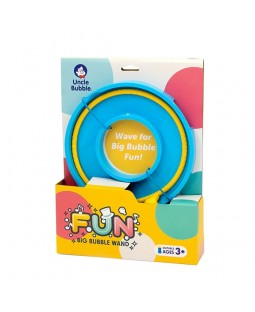 Uncle Bubble Big Bubble Wand - Yellow Wand with Blue Tray