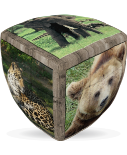 V-Cube 3 x 3 x 3 Wild Animals Puzzle Cube - Black Friday Special
