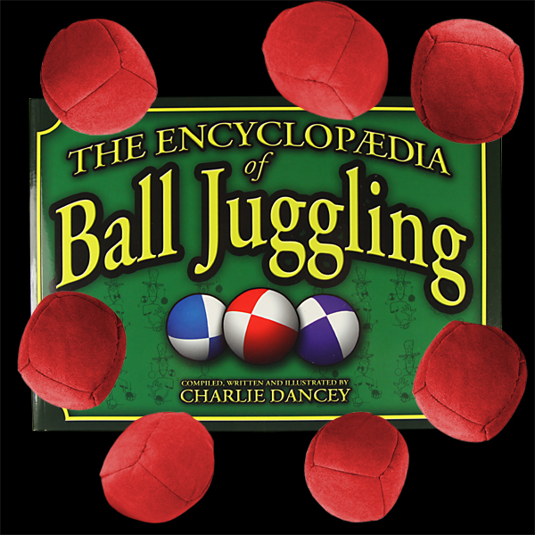 7 x 'Uglies' Juggling Ball + Encyclopaedia of Ball Juggling Book