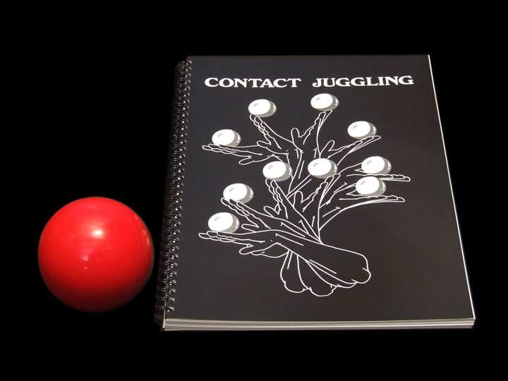 80mm Practise Contact Ball and Contact Juggling Book