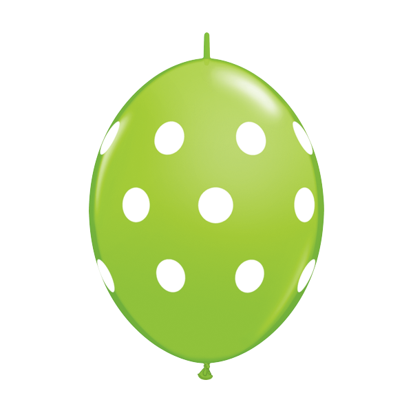 "Qualatex 6"" Q-Link Polka Dot Balloons - Tropical Assortment"