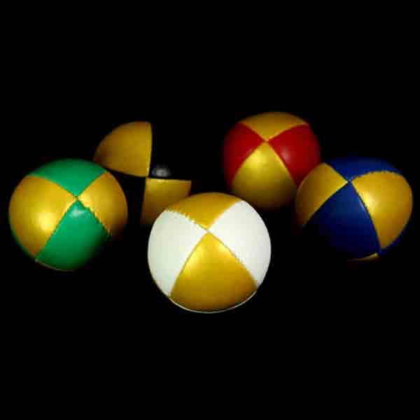 '8 Ball' Juggling Balls with Gold