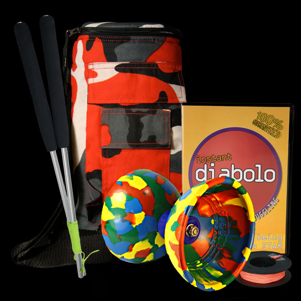 Jester, Diabolo bag, Ali Dreams, 10m string and Instant Diabolo DVD Deal