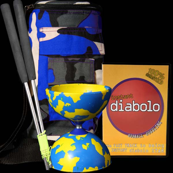 Jester Diabolo, Diabolo Handsticks, DVD and Diabolo Bag Deal