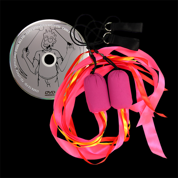Juggle Dream Ribbon Poi & DVD