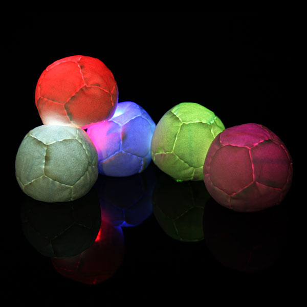 Juggle-Light White 12-Panel Pro LED Footbag
