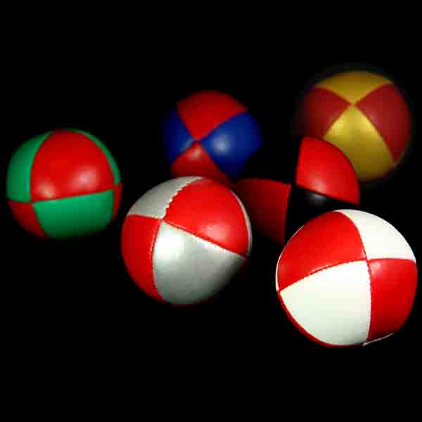 '8 Ball' Juggling Balls with Red