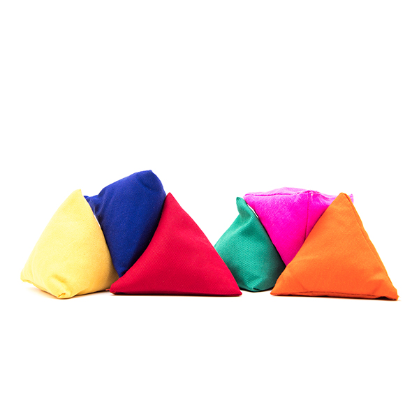 Set of 3 Tri-it Pyramid Beanbags