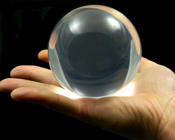 90mm Clear Acrylic Contact Juggling Ball