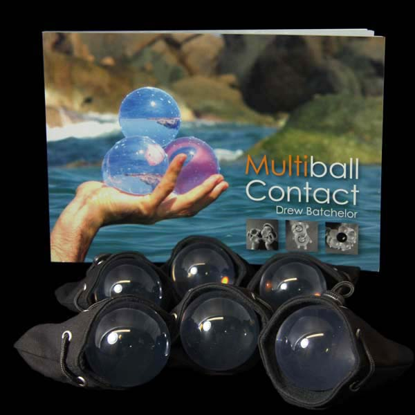6 x 70mm Acrylic Contact Balls, Multiball Contact Book and Six Contact Ball Bags
