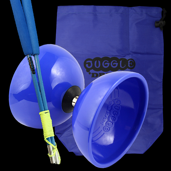 Juggle Dream Big Top Bearing Diabolo, Superglass Diablo Sticks & Bag.