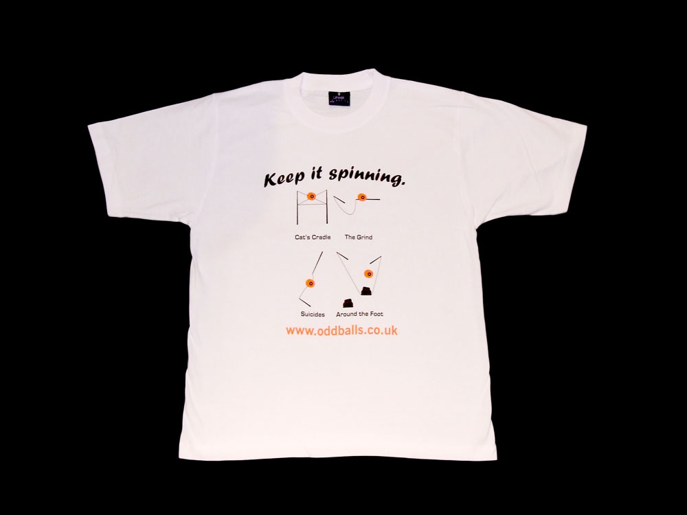 Oddballs T-Shirt - Diabolo Keep it Spinning - White