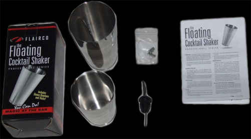 The Flairco Magic Floating Cocktail Shaker Set
