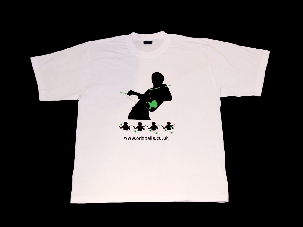 Oddballs T-Shirt - Diabolo Tricks - White