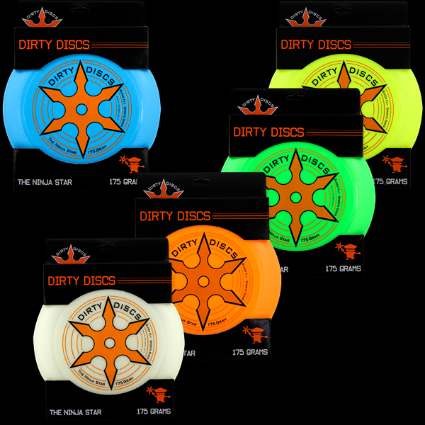 Dirty Disc Ninja Star Frisbee - Packaged