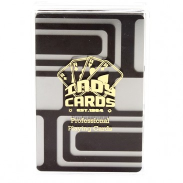 Indy Plastic Playing Cards - Black Sun