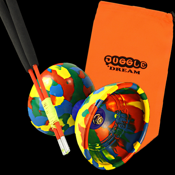 Juggle Dream Jester Diabolo, Pro Hand Sticks & Bag