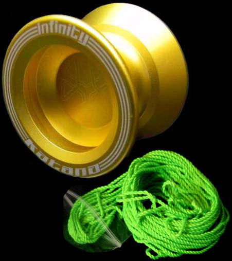 Infinity Katana Metal Yoyo and 5 x Primo Yoyo strings