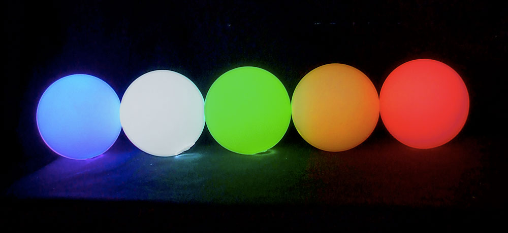 Single Colour Oddballs soft LED glow ball