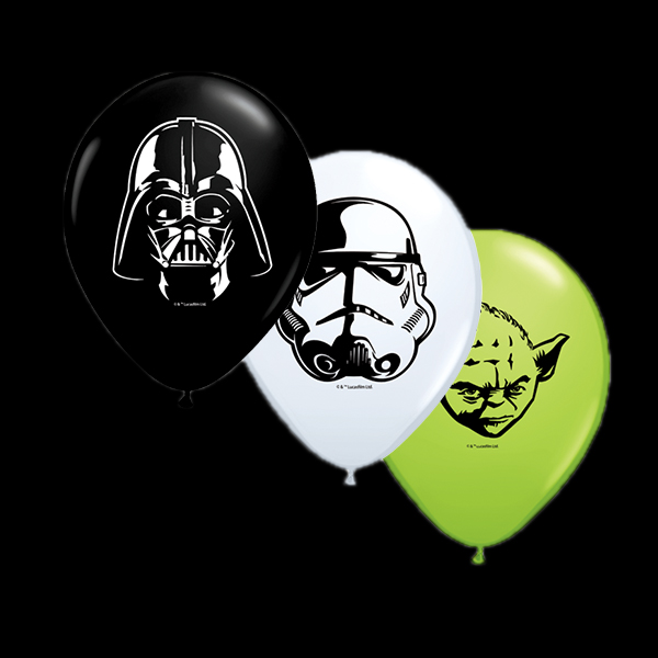 "Qualatex 5"" Star Wars Faces Balloons"
