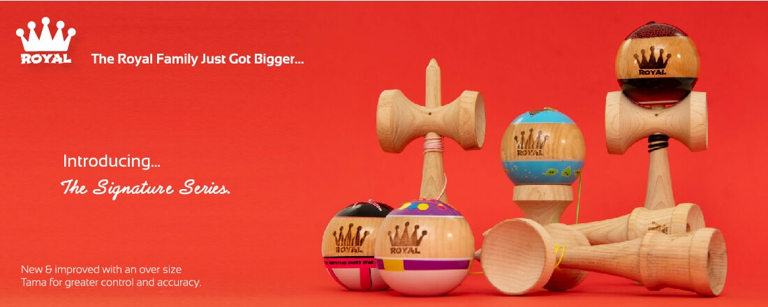 View the new Signature Kendama range from Royal!